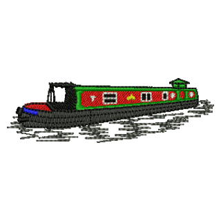 Narrow Boat 11280 | Stock Embroidery Designs for Home and Commercial Embroidery | UK